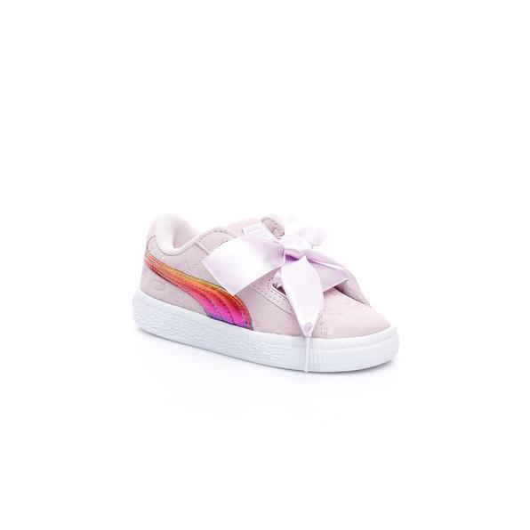 Puma Mınıons Suedeheartfluffy Çocuk Pembe Sneaker