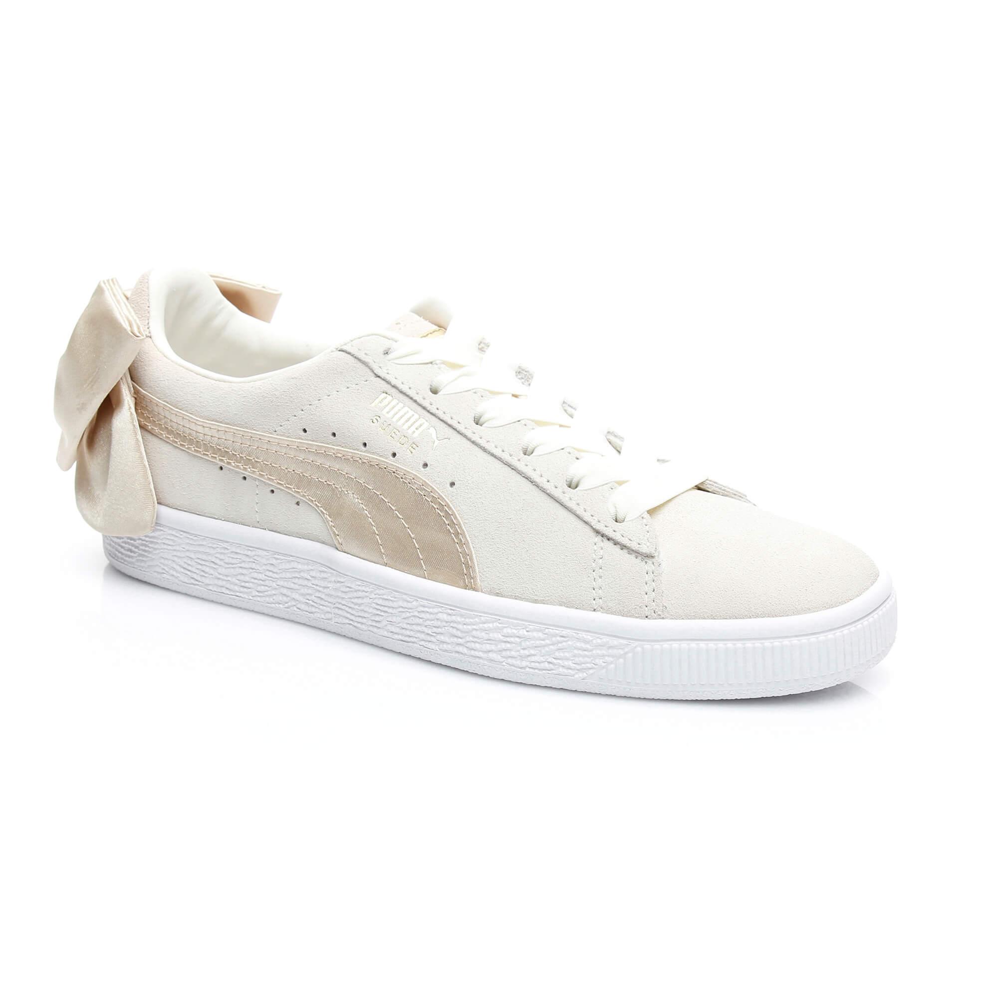 Puma Suede Bow Varsıty Kadın Bej Sneaker