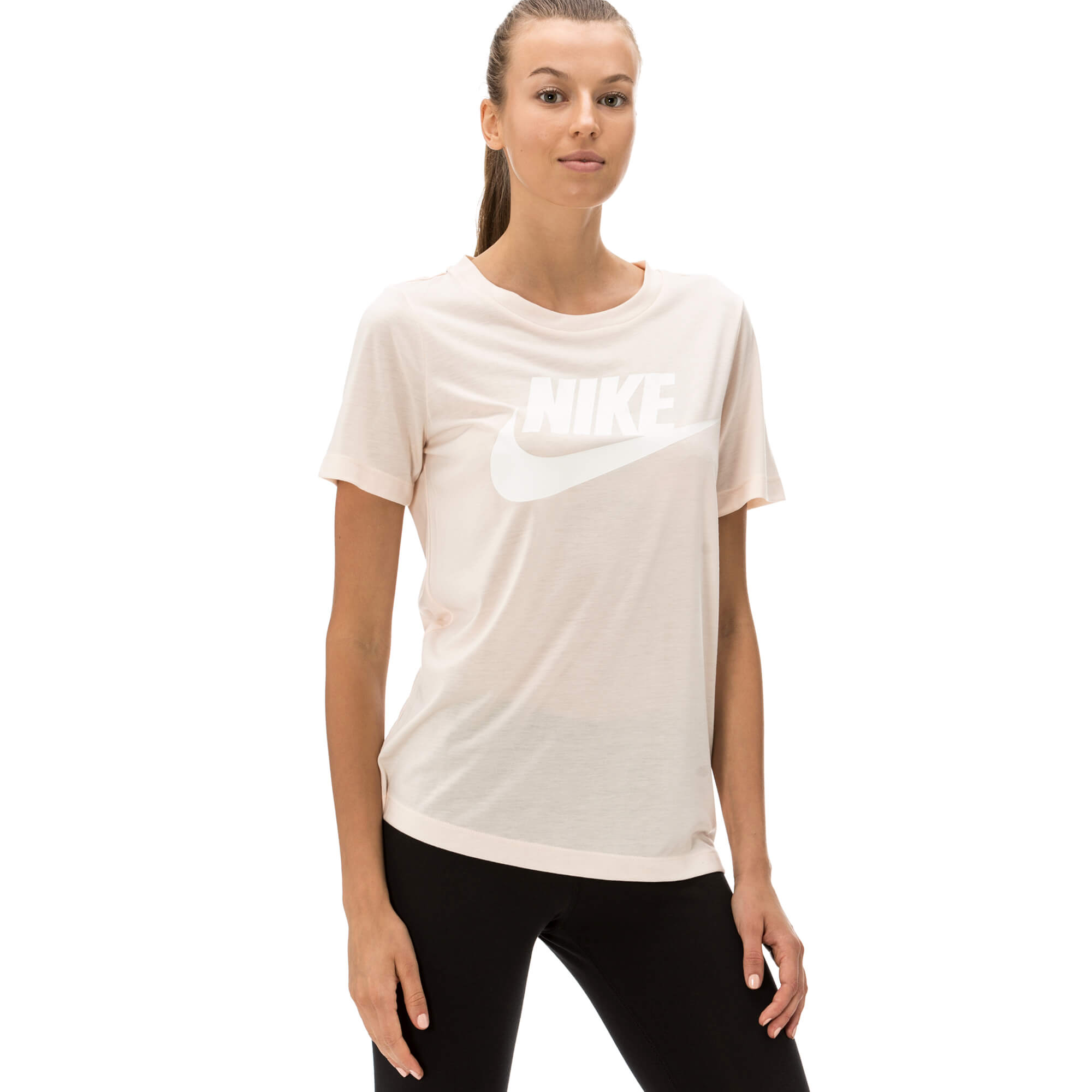 Nike Essential Kadın Bej T-shirt