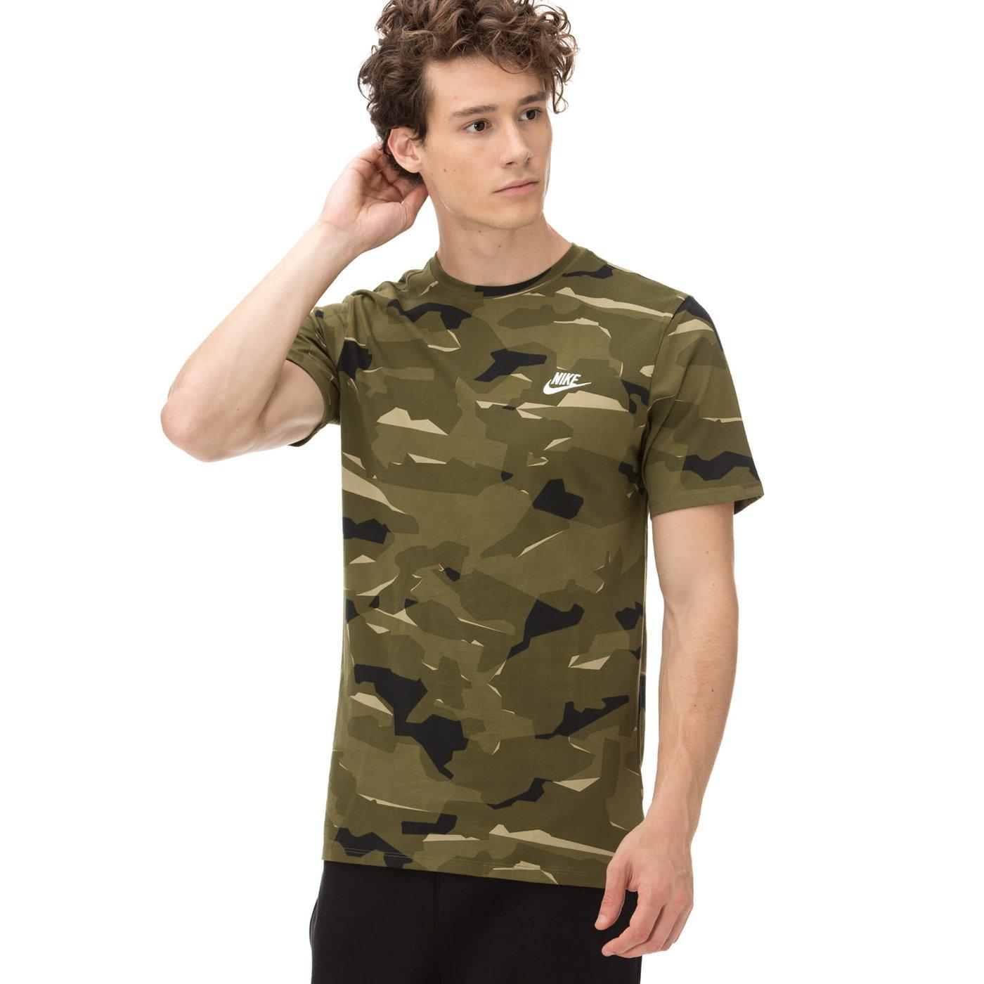 Nike Erkek Kamuflaj Yeşil T-shirt