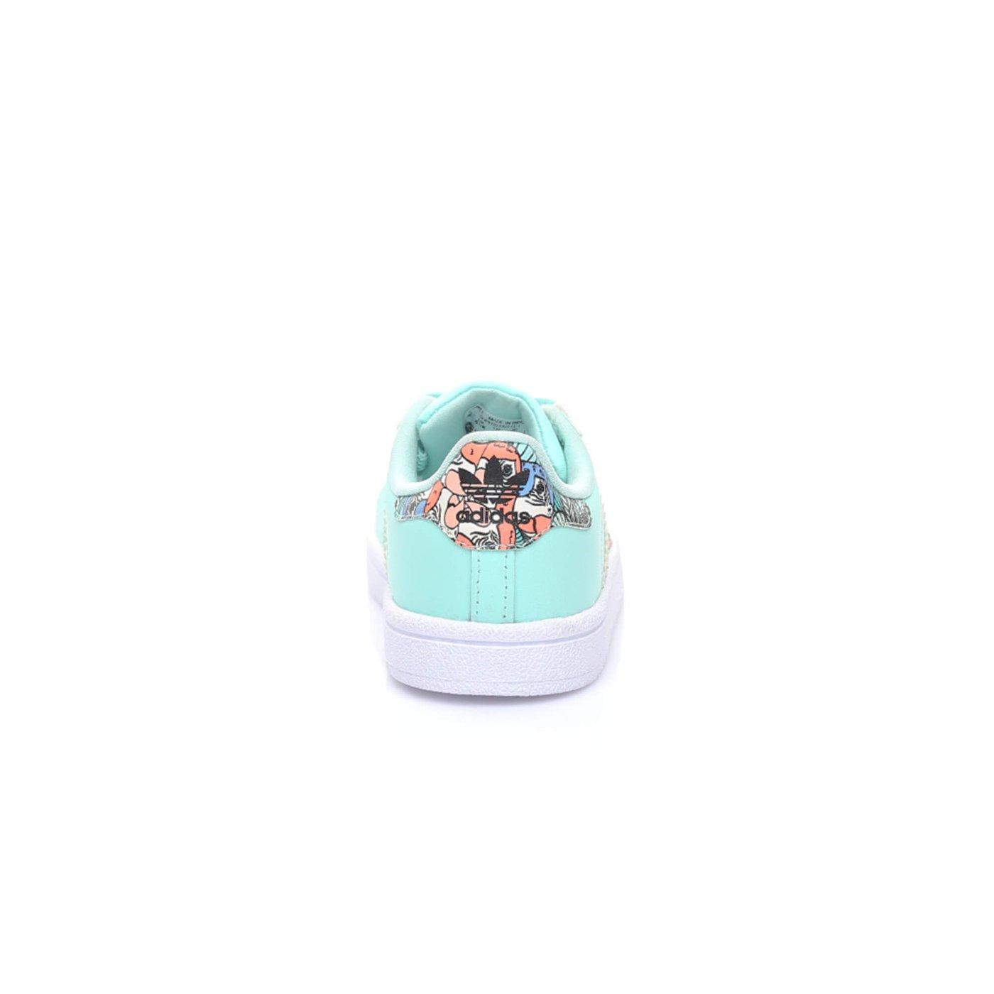 Adidas Superstar Kız Çocuk Turkuaz Sneaker