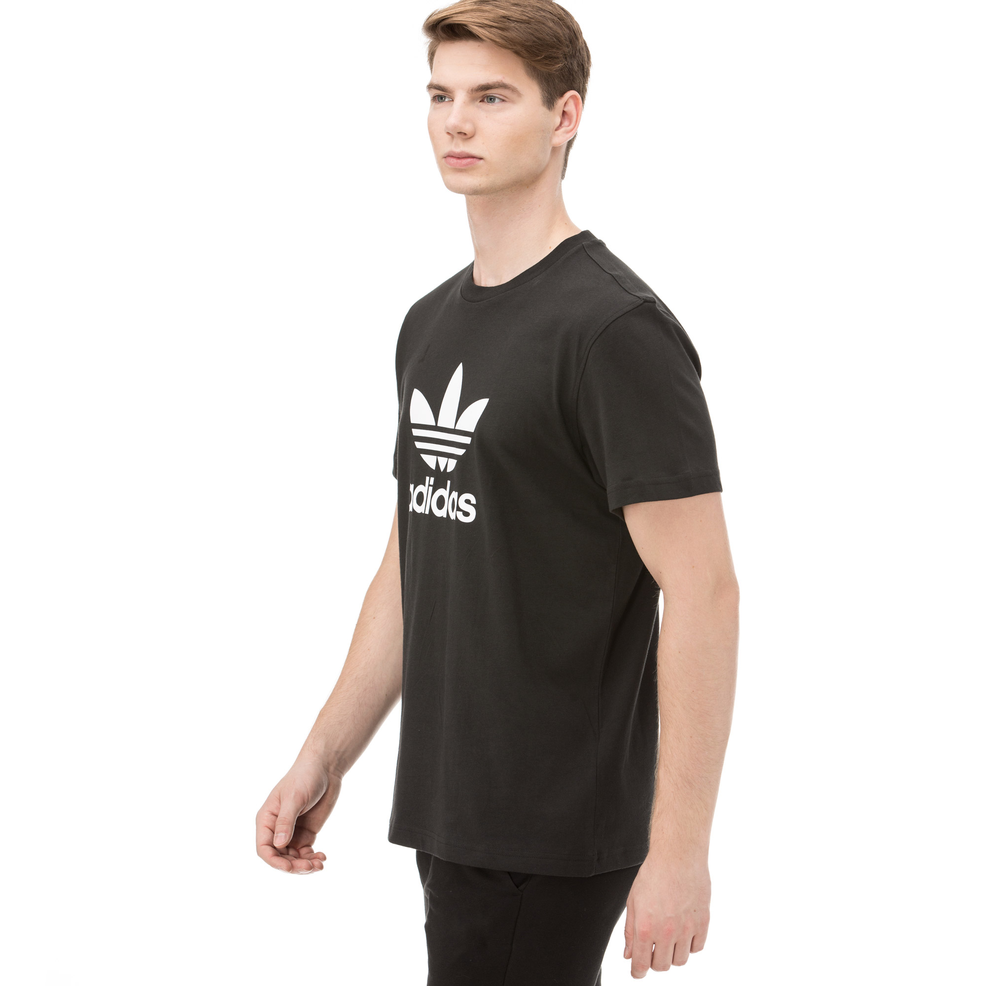 adidas Trefoil Erkek Siyah Tshırt