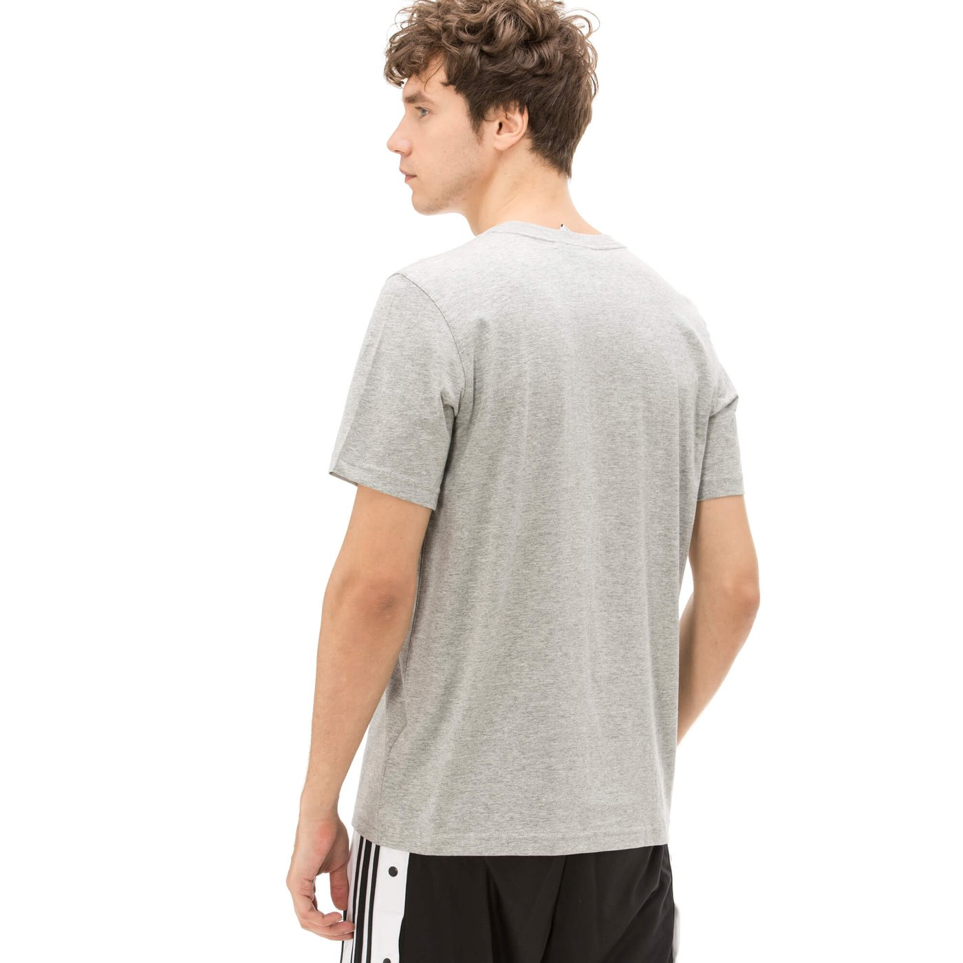 adidas Trefoil Erkek Gri Tshirt