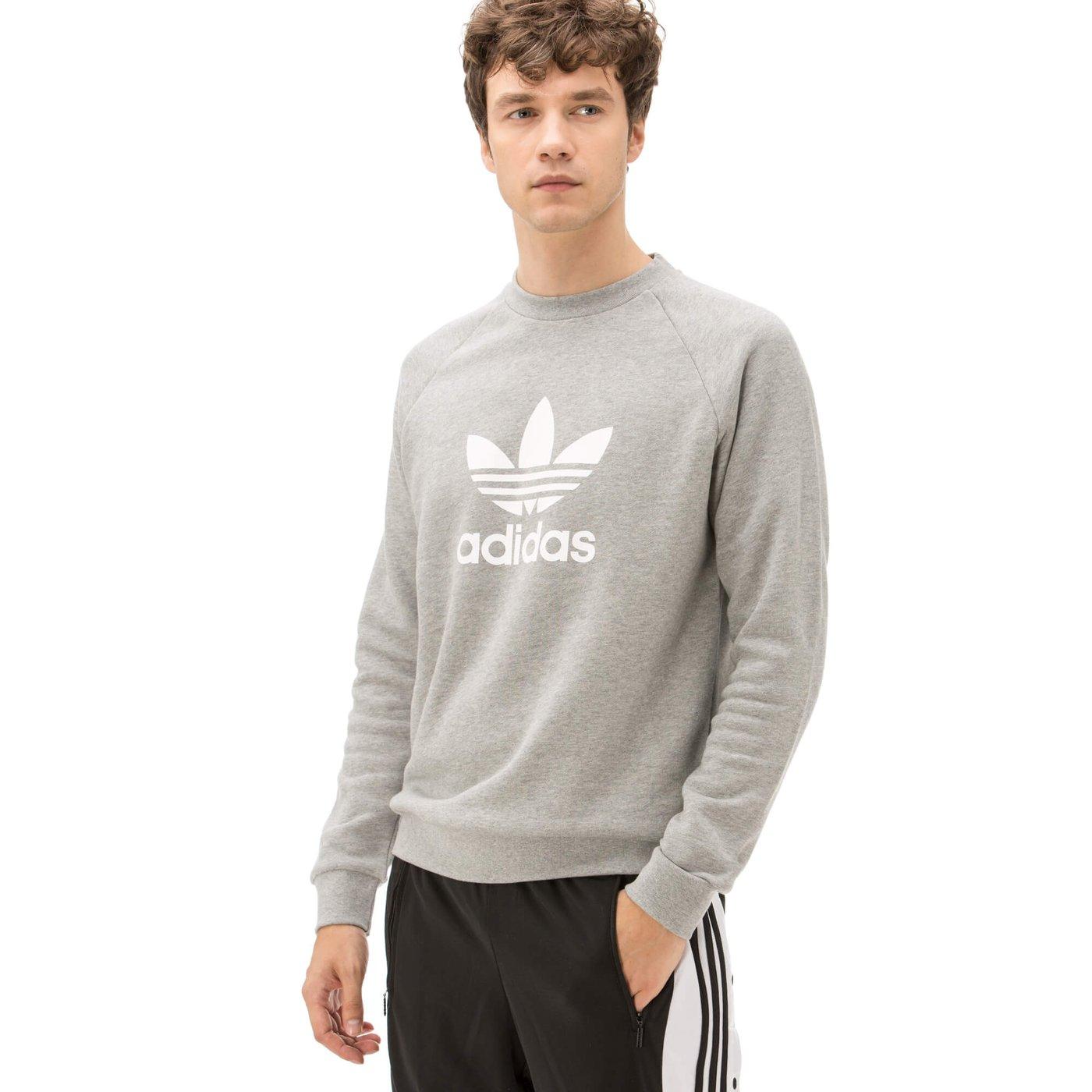 adidas Trefoil Erkek Gri Sweatshirt