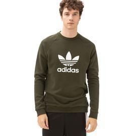 adidas Trefoil  Erkek Yeşil Sweatshirt