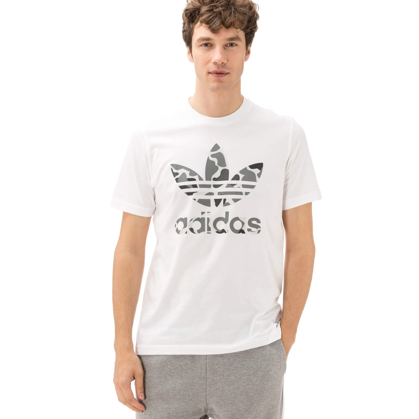 adidas TrefoilErkek Beyaz Tshirt