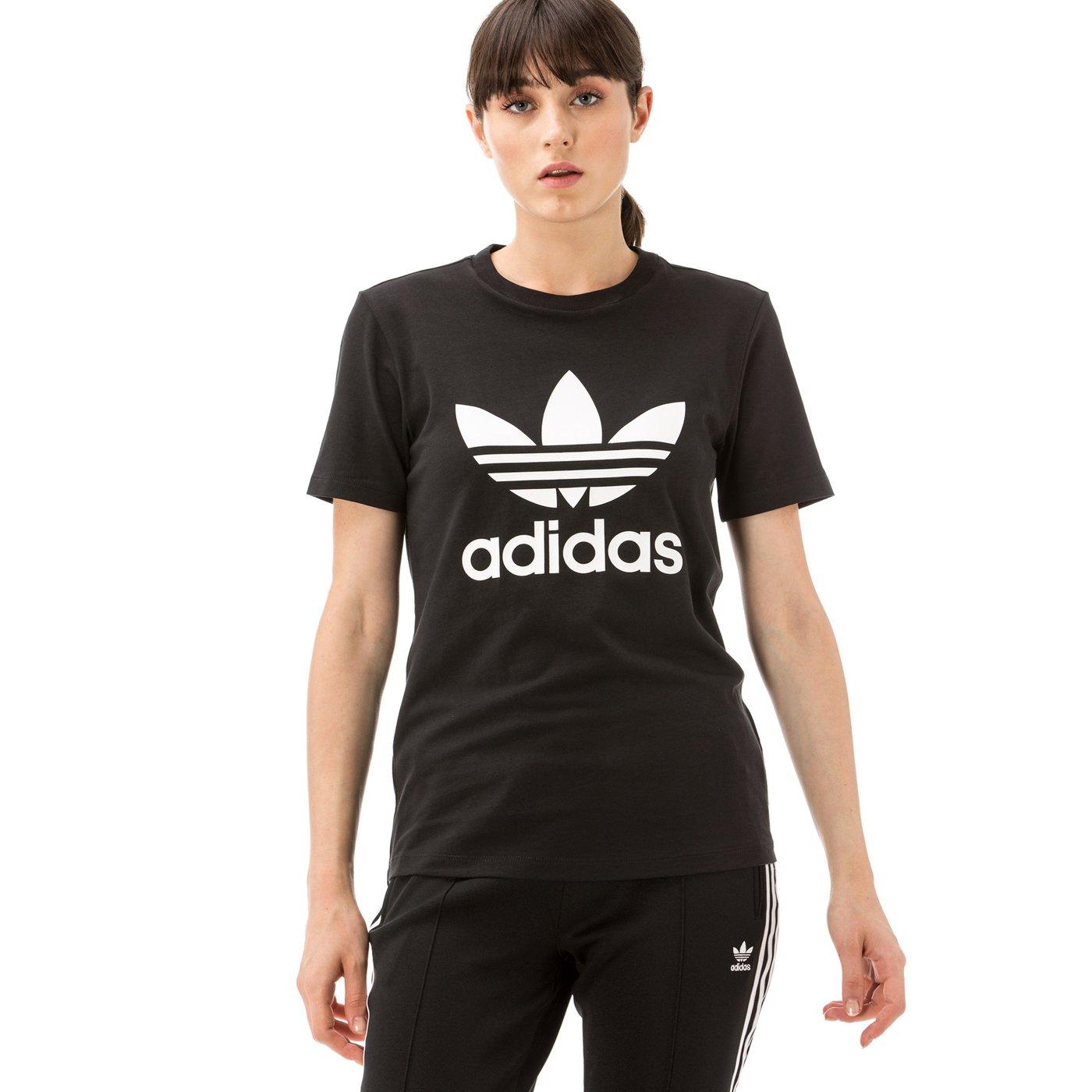 adidas Trefoil Tee Kadın Siyah T-Shirt