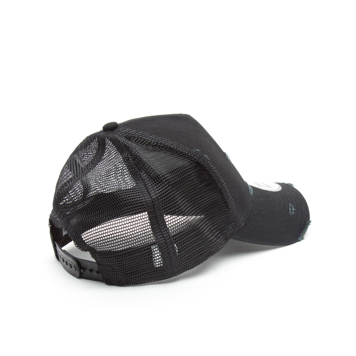 New Era Distressed Unisex Siyah Şapka