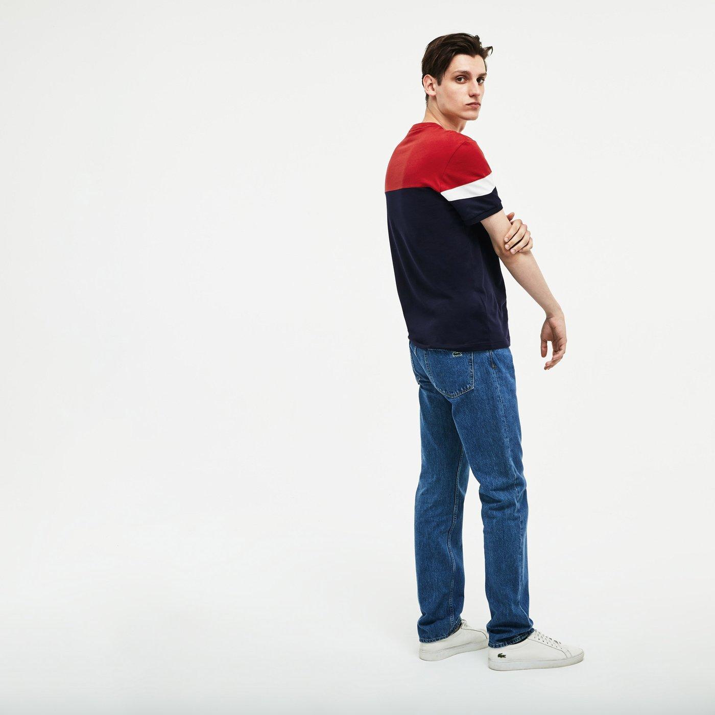 Lacoste Erkek Lacivert-Kırmızı T-Shirt