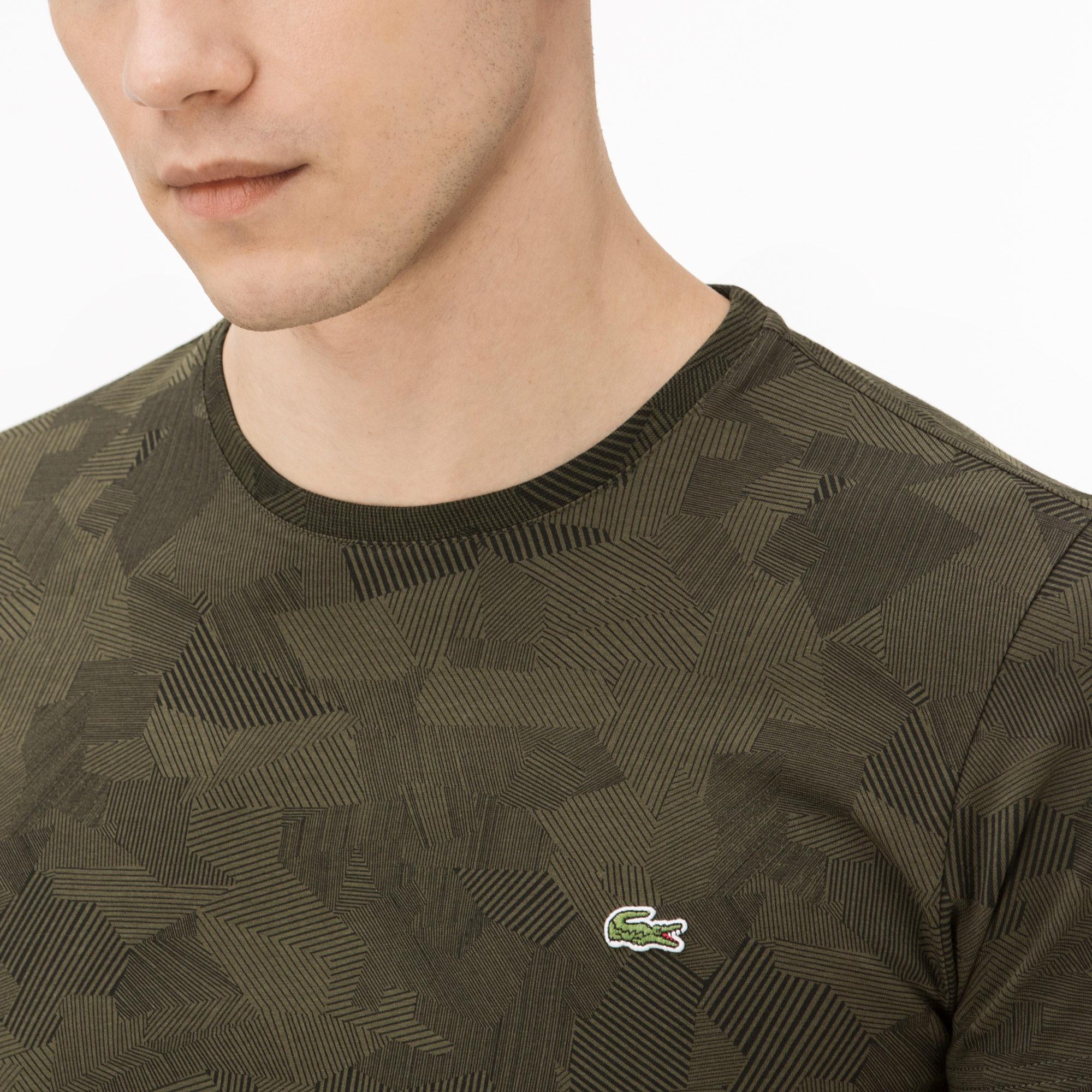 Lacoste Erkek Kamuflaj Yeşil T-Shirt