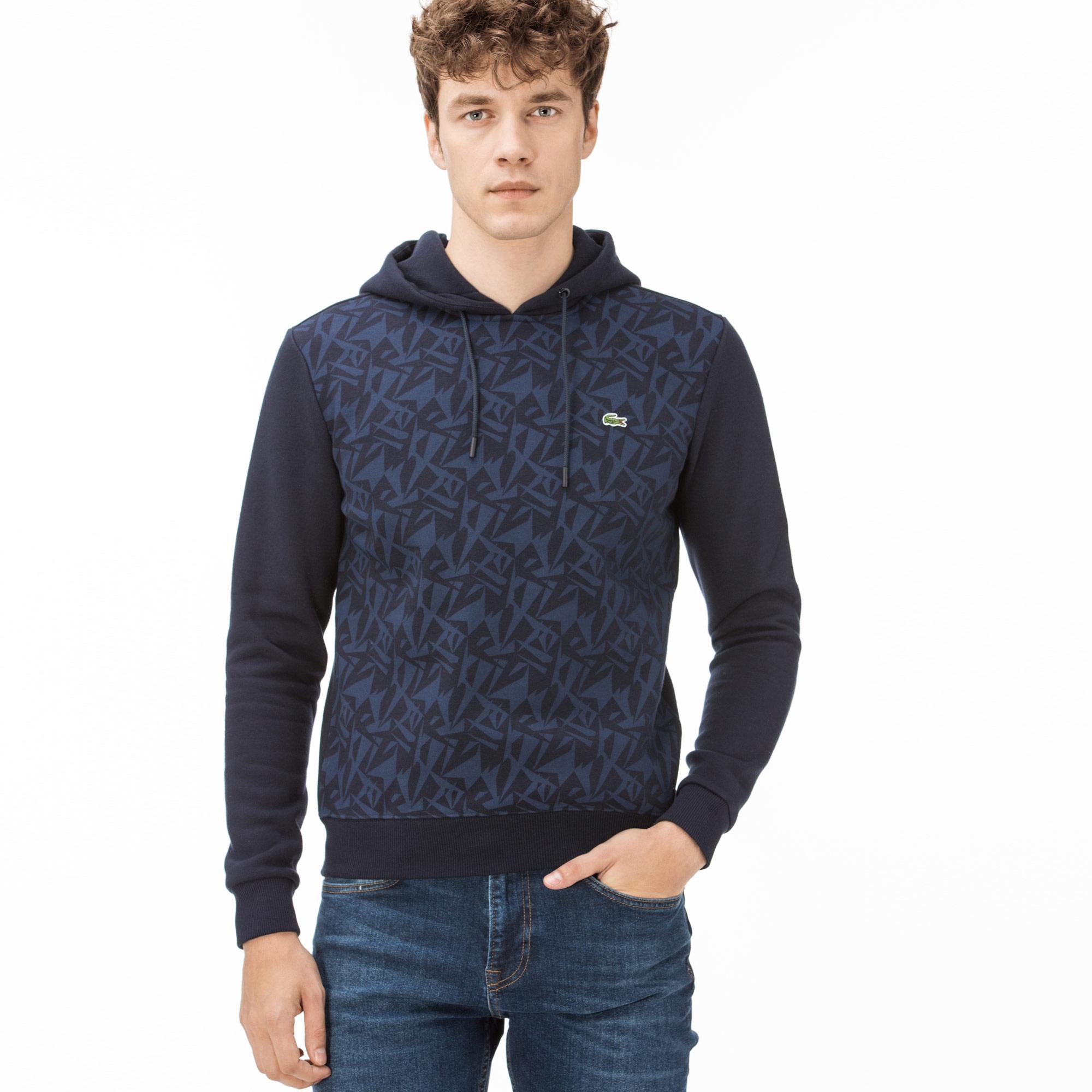 Lacoste Kapüşonlu Erkek Lacivert Sweatshirt