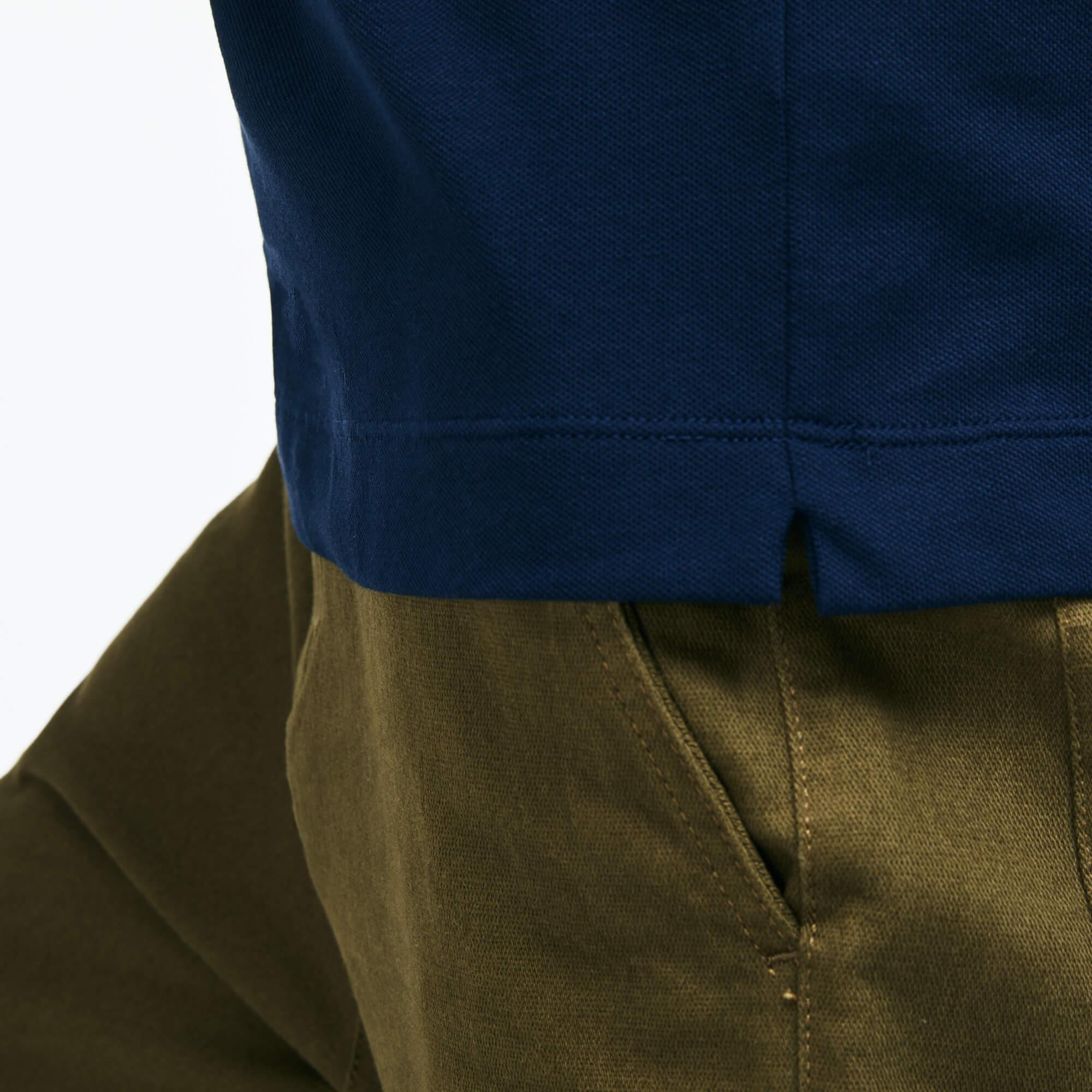 Lacoste Regular Fit Erkek Lacivert Uzun Kollu Polo