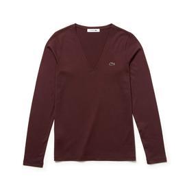 Lacoste Tf8792 Kadın Bordo T-Shirt