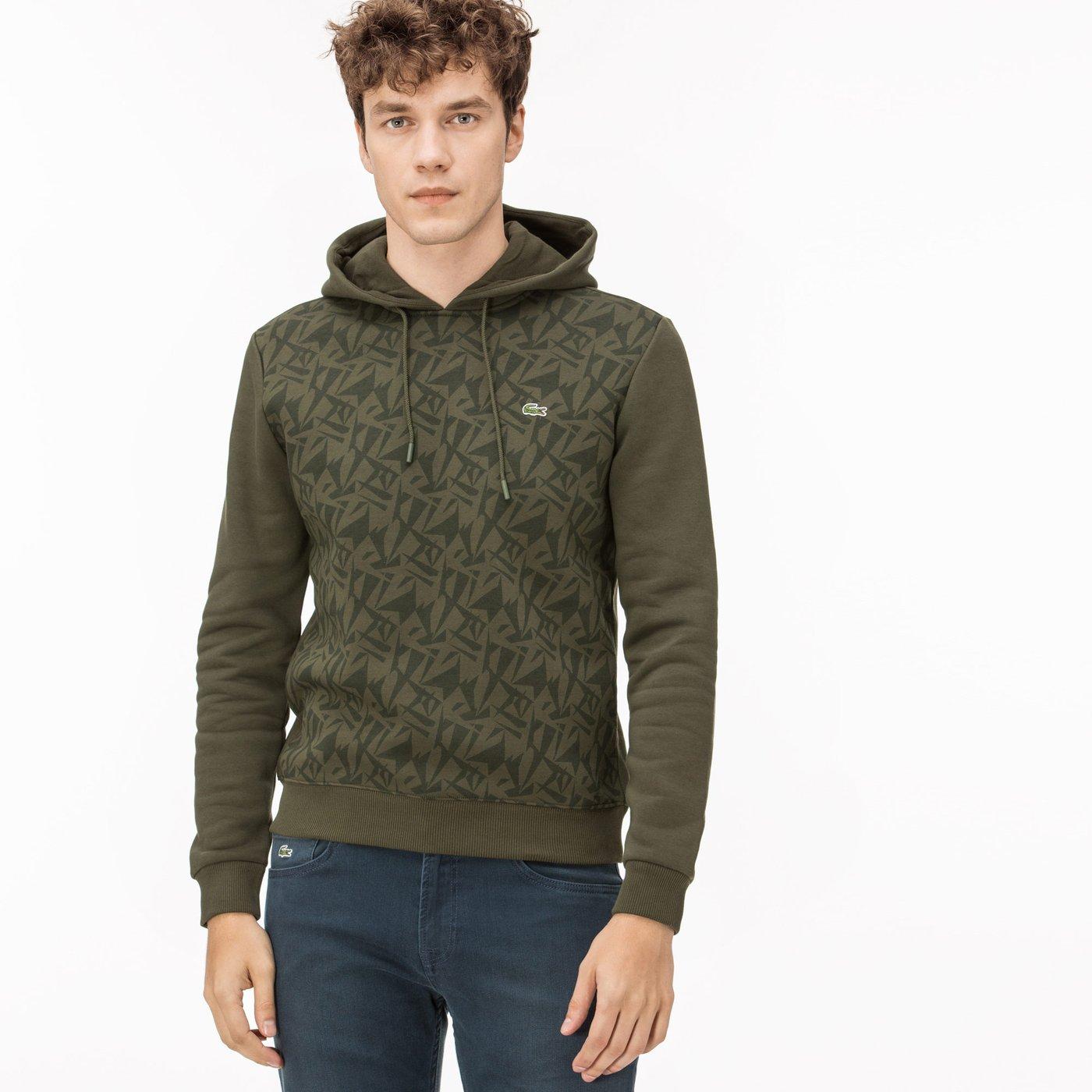 Lacoste Kapüşonlu Erkek Yeşil Sweatshirt