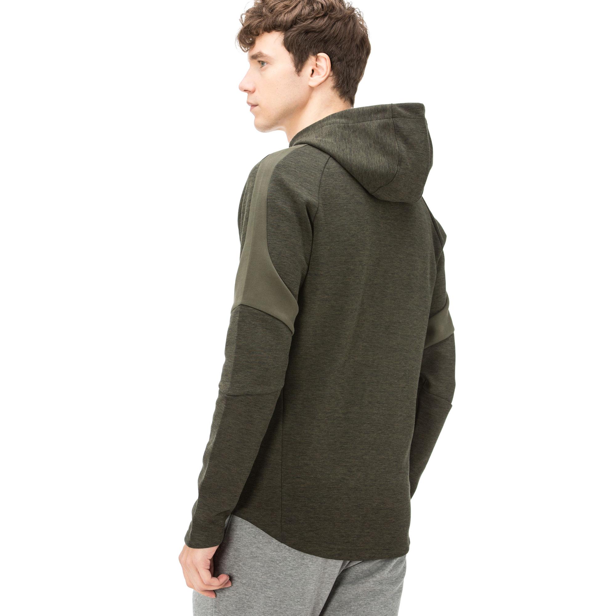 Puma Evostripe Erkek Yeşil Kapüşonlu Fermuarlı Sweatshirt