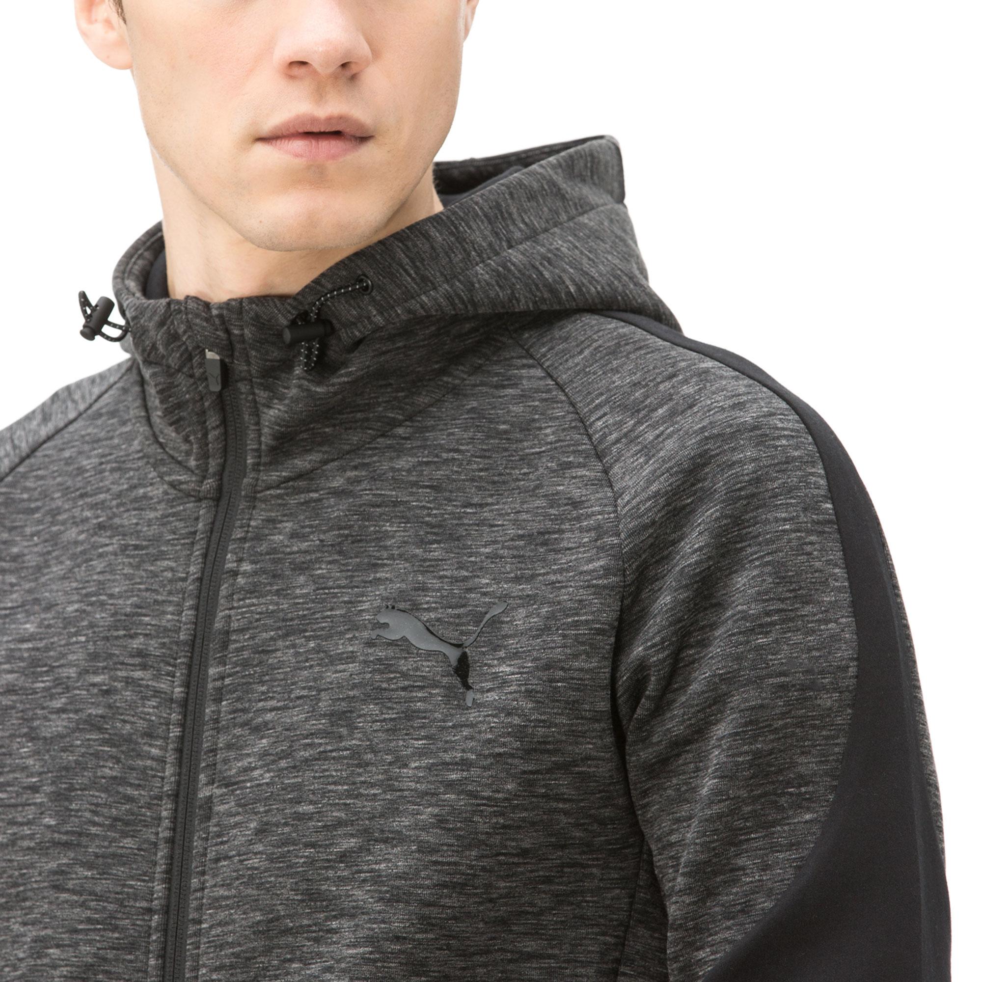 Puma Evostripe Fz Hoody Erkek Siyah Sweatshirt