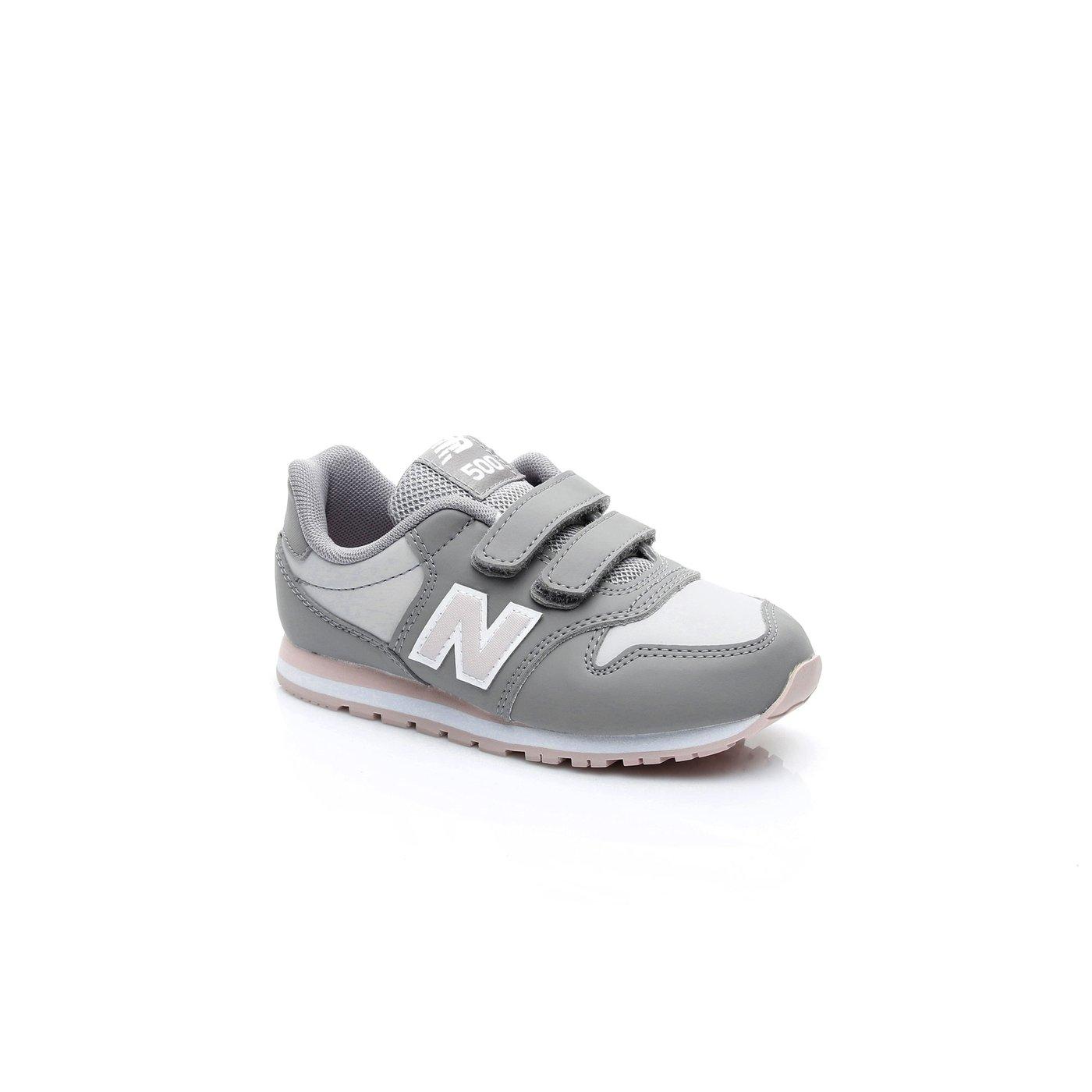 New Balance 500 Kız Çocuk Gri Sneaker