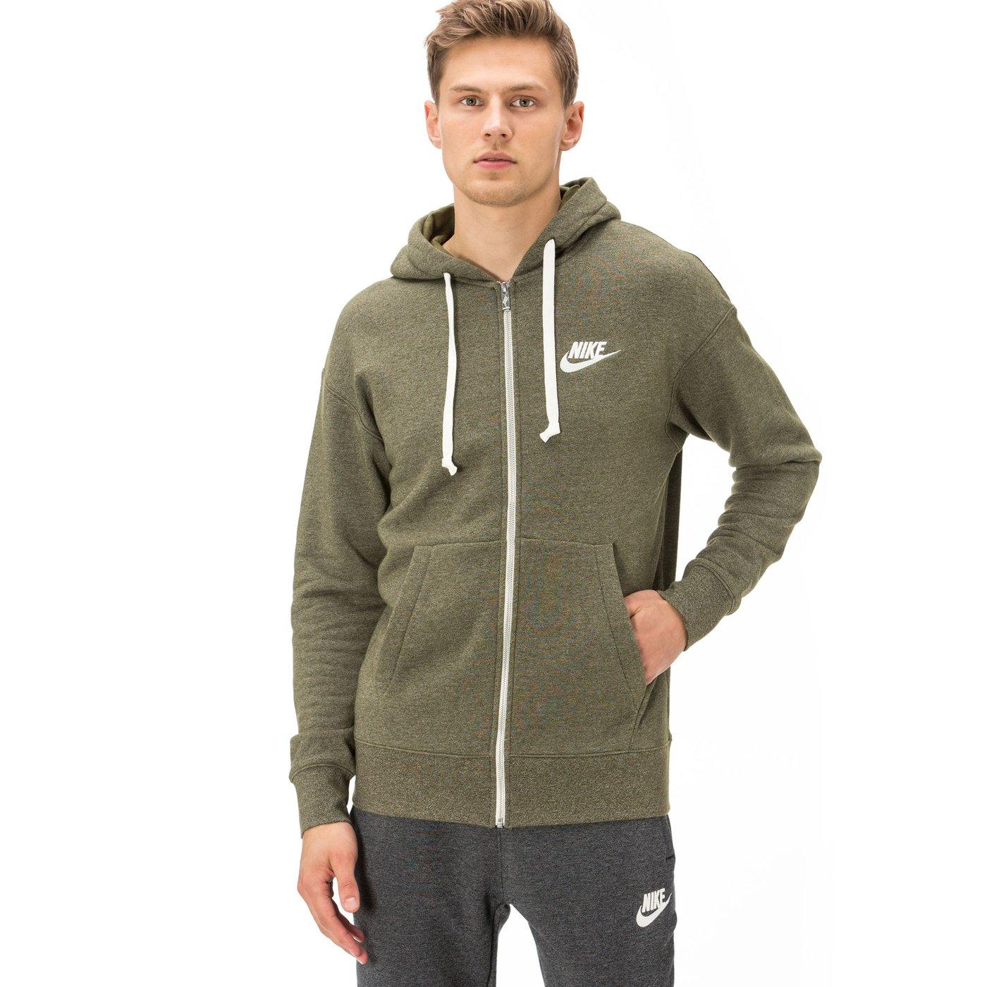 Nike Heritage Erkek Yeşil Fermuarlı Sweatshirt