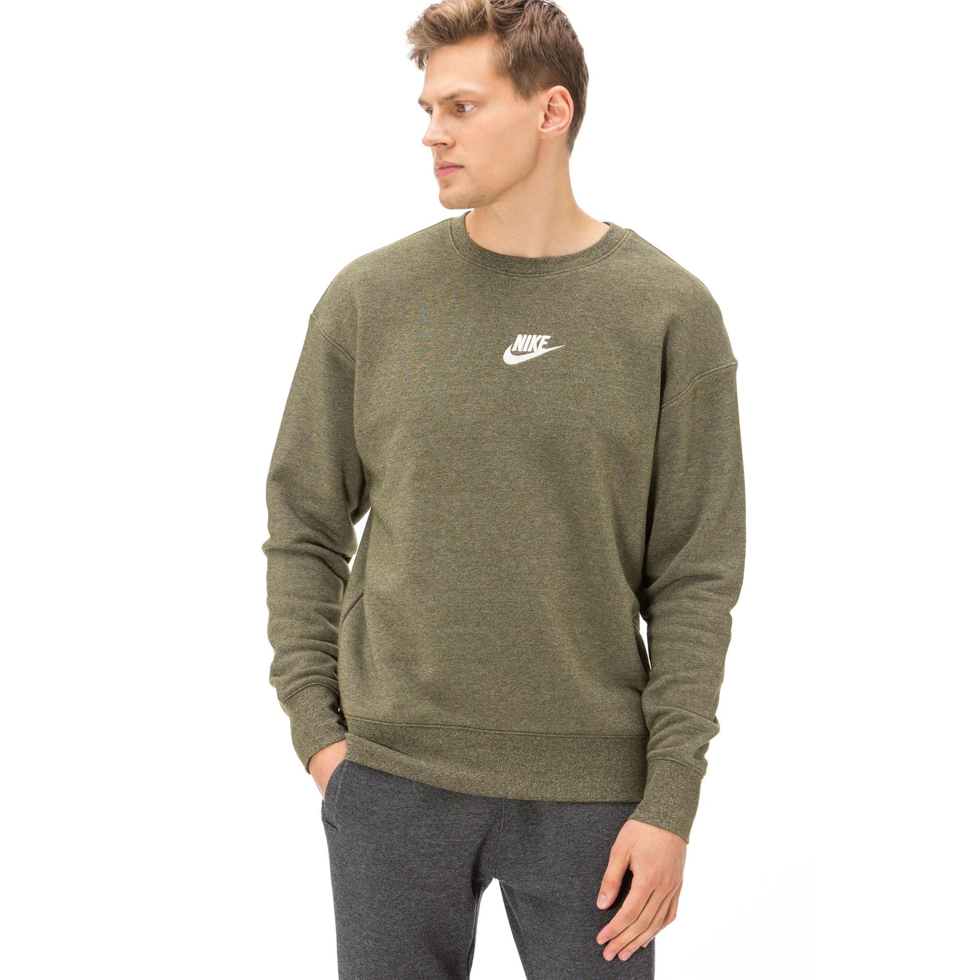 Nike Heritage Erkek Yeşil Sweatshirt