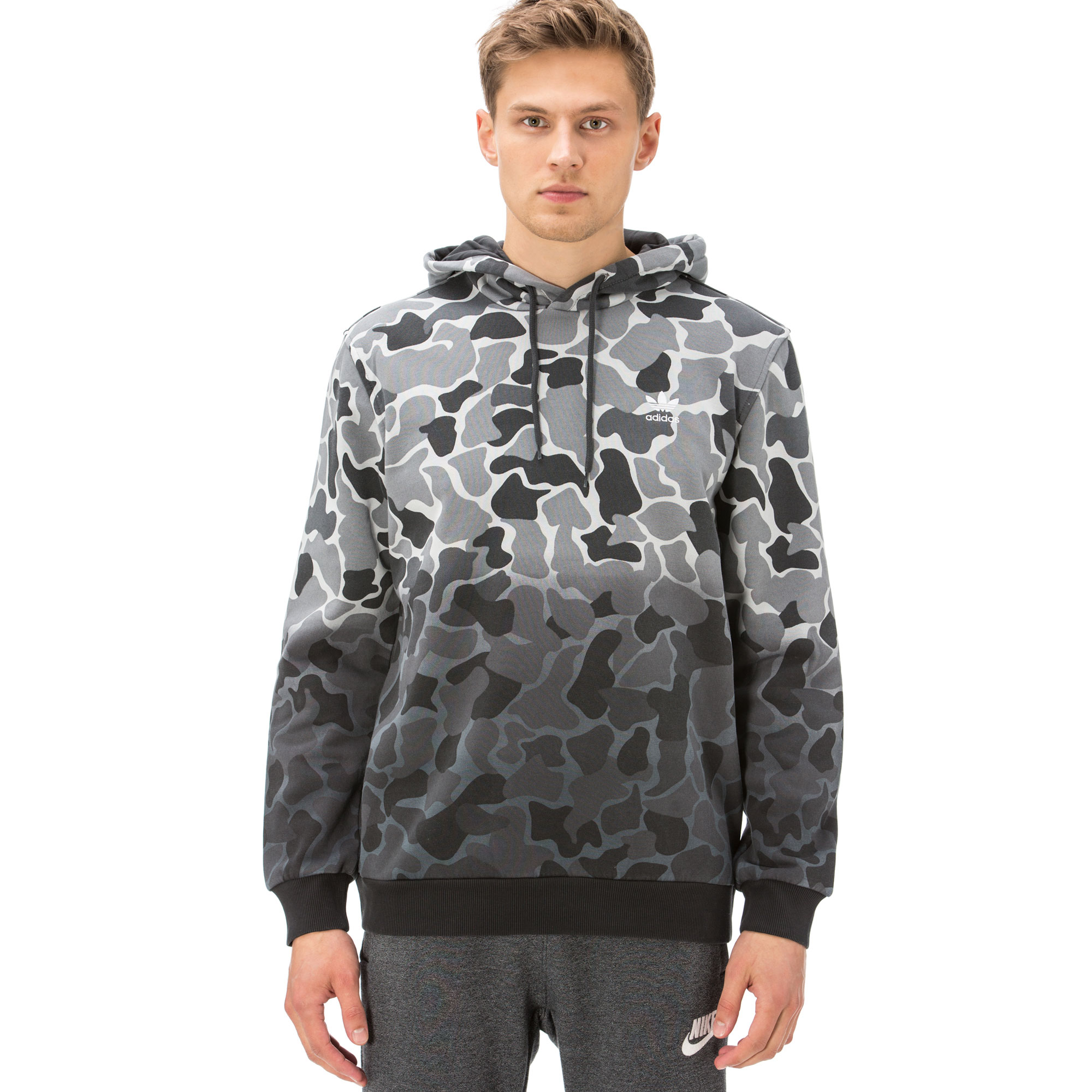 adidas Camo Hoodie Erkek Siyah Sweatshirt