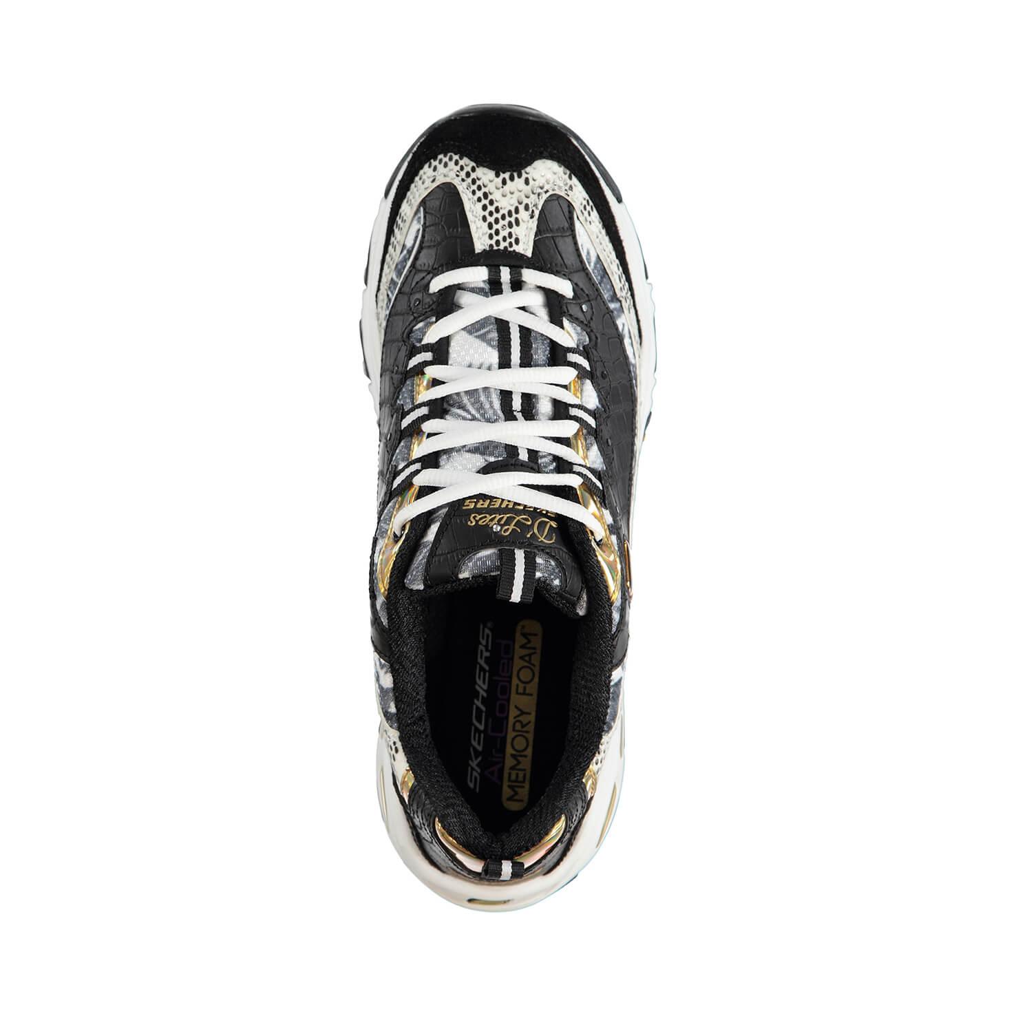 Skechers D'Lites-Runway Ready Kadın Gri - Siyah Spor Ayakkabı