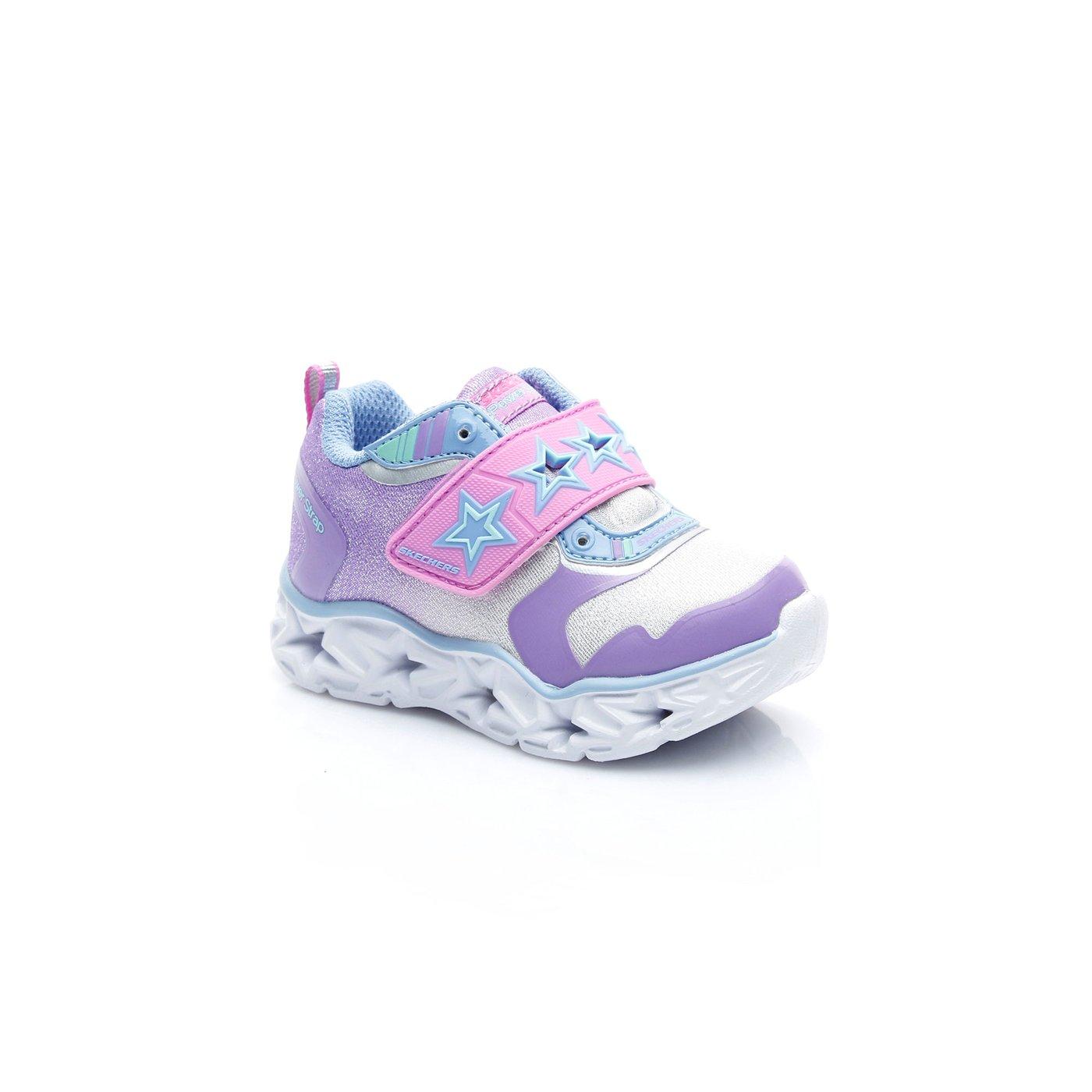 Skechers Galaxy Lights - Cosmic Kick Çocuk Gümüş Sneaker