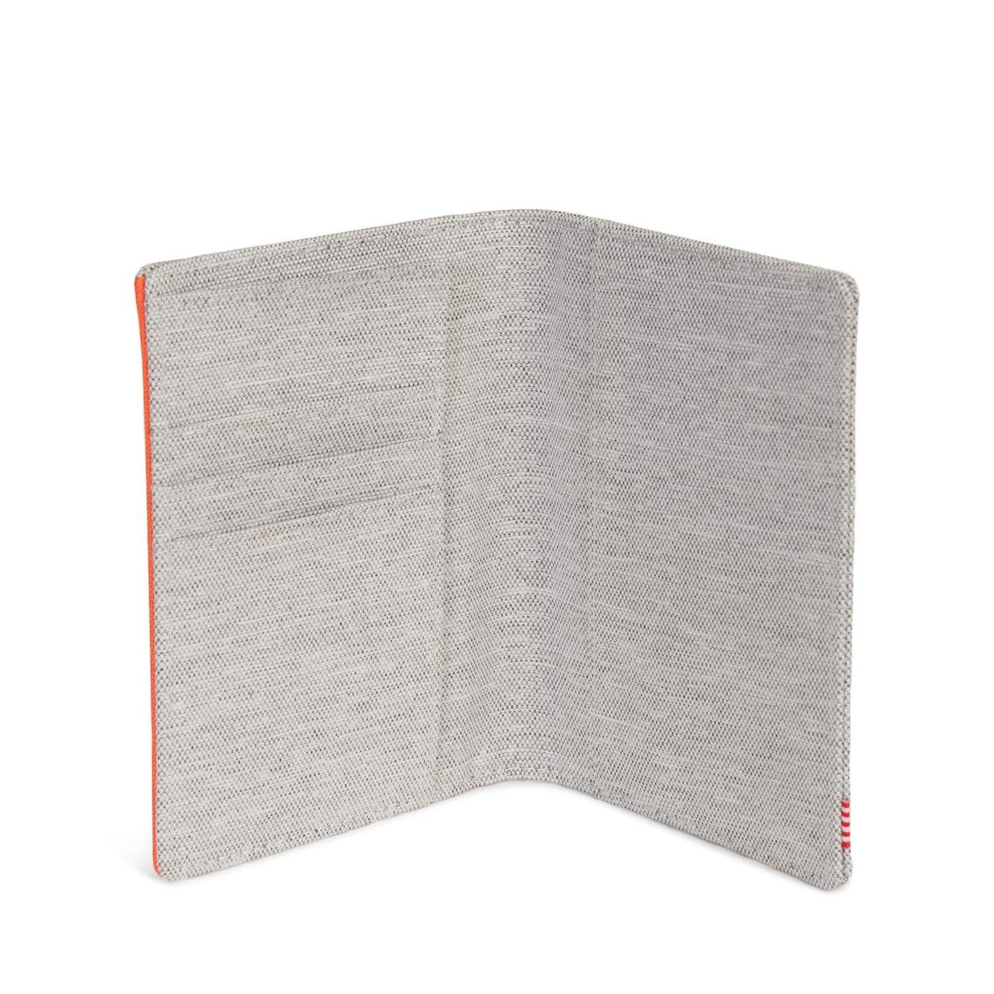 Herschel Raynor Unisex Turuncu - Gri Pasaport Cüzdanı
