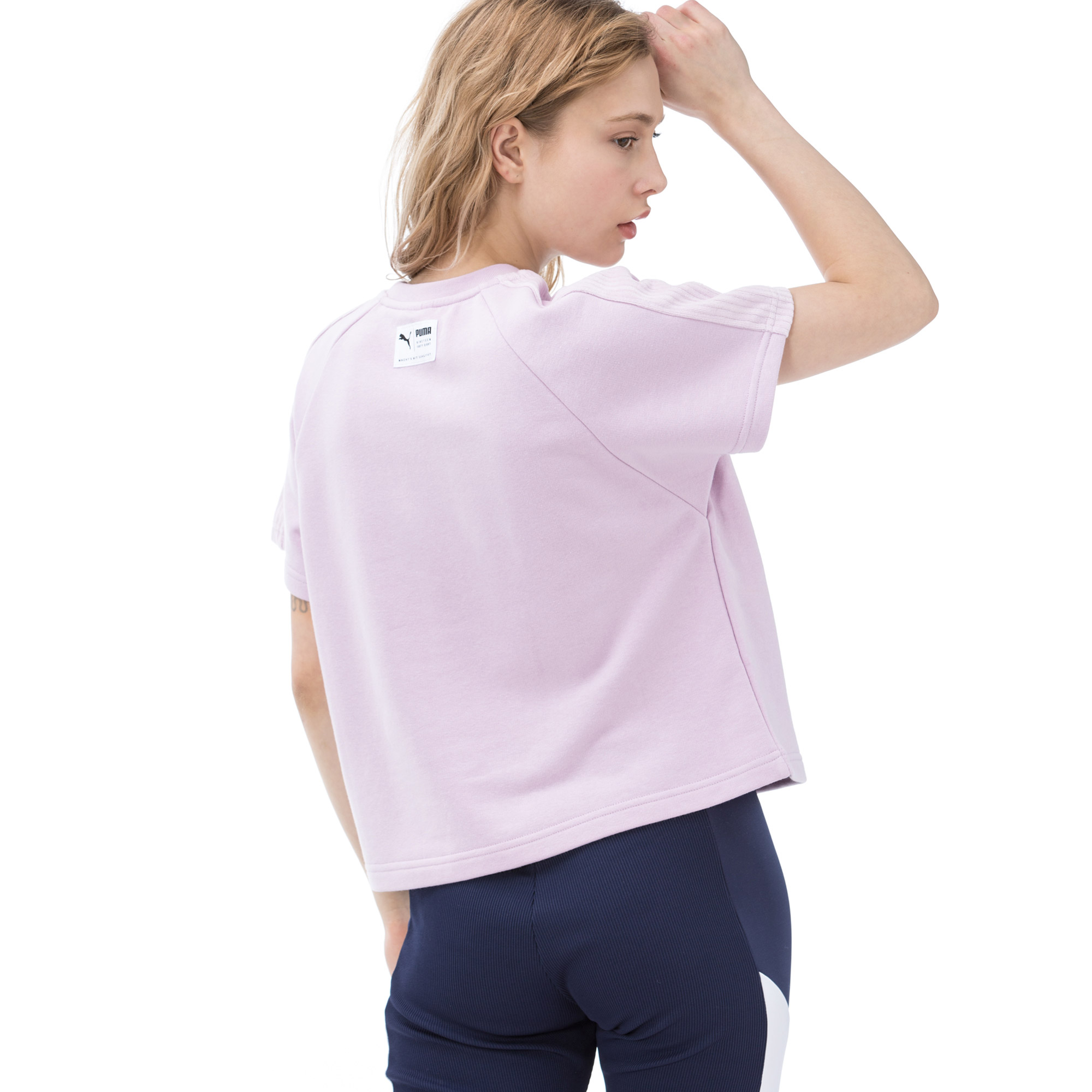 Puma Downtown Structured Kadın Pembe T-shirt