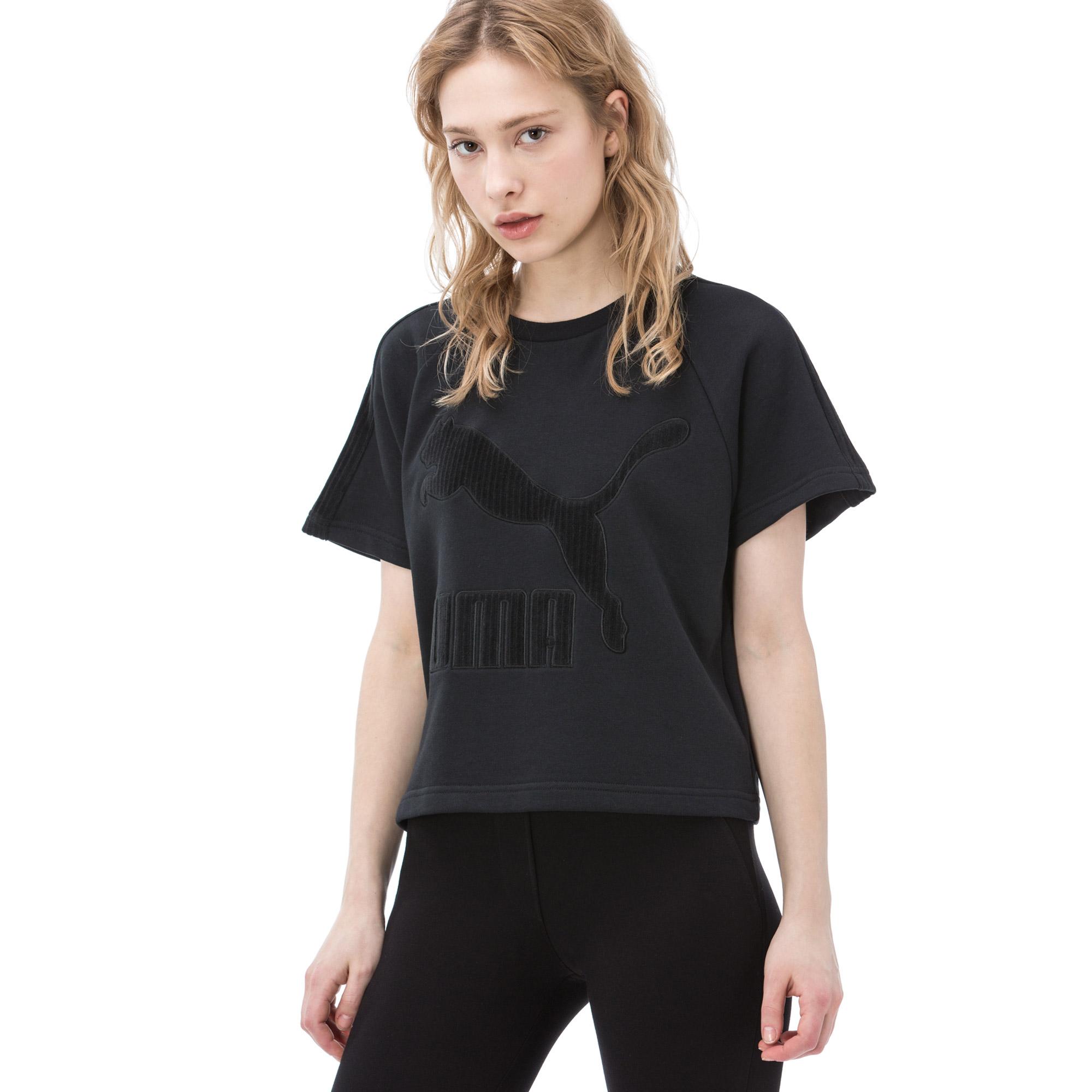 Puma Kadın Siyah Tshirt