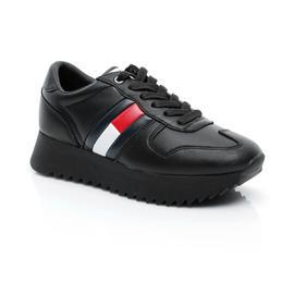 Tommy Hilfiger High Cleated Kadın Siyah Sneaker