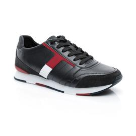 Tommy Hilfiger Corporate Leather Mix Erkek Lacivert Sneaker