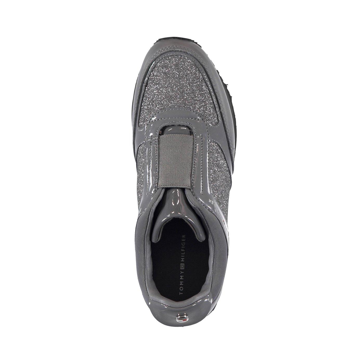 Tommy Hilfiger Elastic Wedge Kadın Gümüş Sneaker