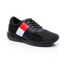 Tommy Hilfiger Lightweight Runner Erkek Siyah Sneaker