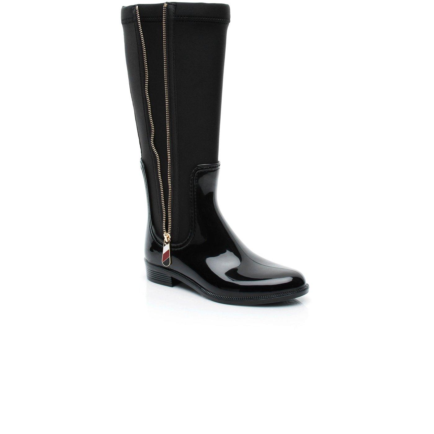Tommy Hilfiger Kadın Siyah Yağmur Botu