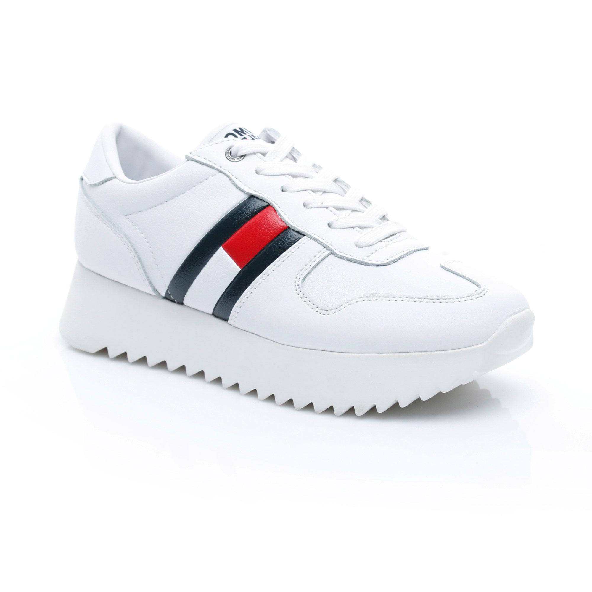 Tommy Hilfiger High Cleated Kadın Beyaz Sneaker
