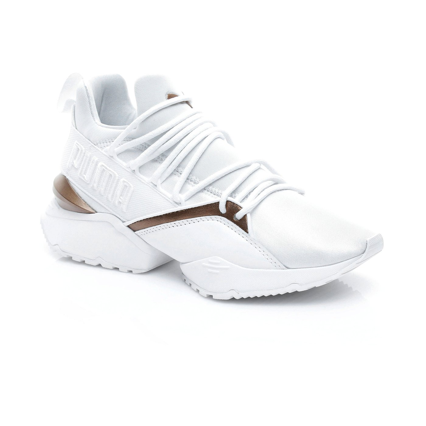 Puma Muse Maia Luxe Wn S Kadın Beyaz Sneaker