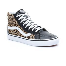 Vans Old Skool Sk8 Hi Siyah Leopar Kadın Sneaker