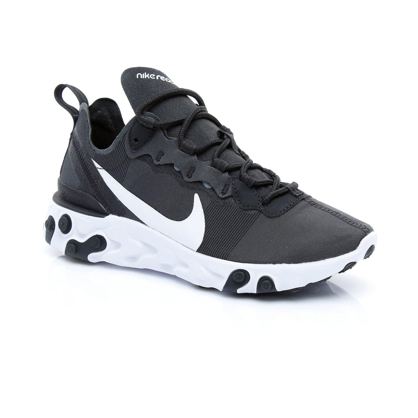 Nike React Element 55 Kadın Siyah Spor Ayakkabı