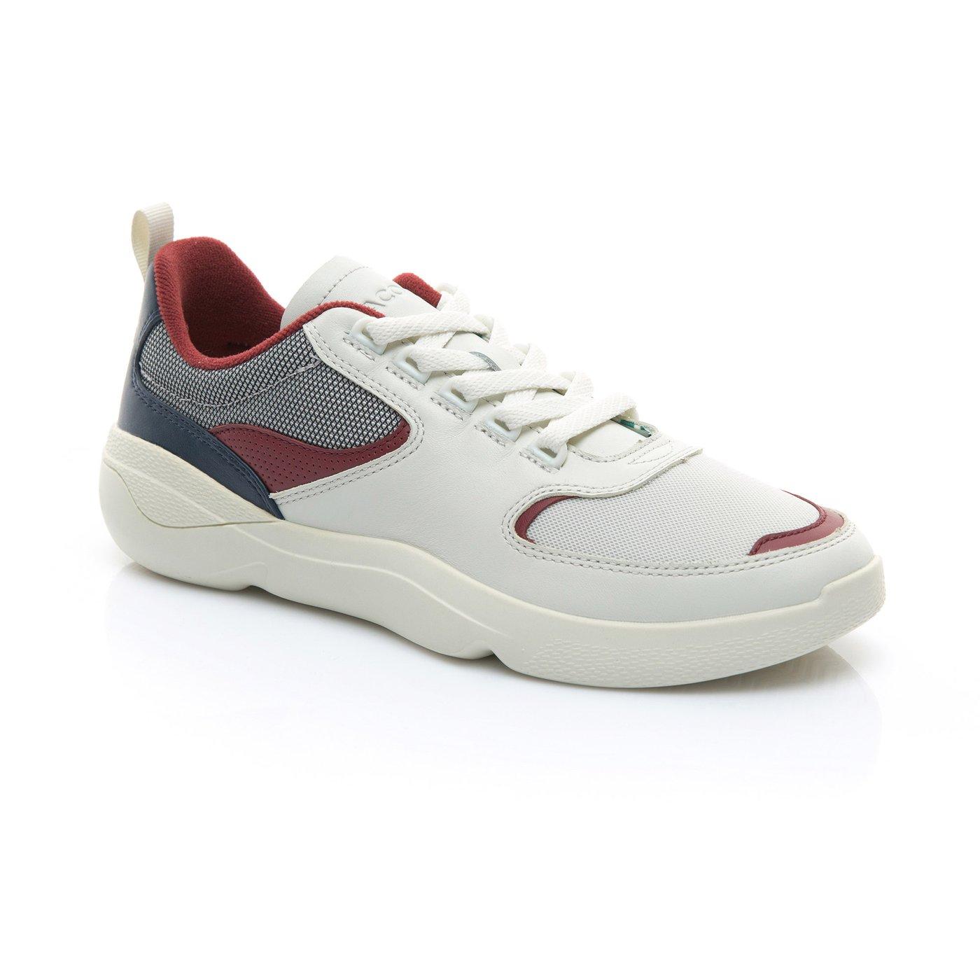 Lacoste Erkek Bej - Koyu Kirmizi Wildcard 119 1 Spor Ayakkabı