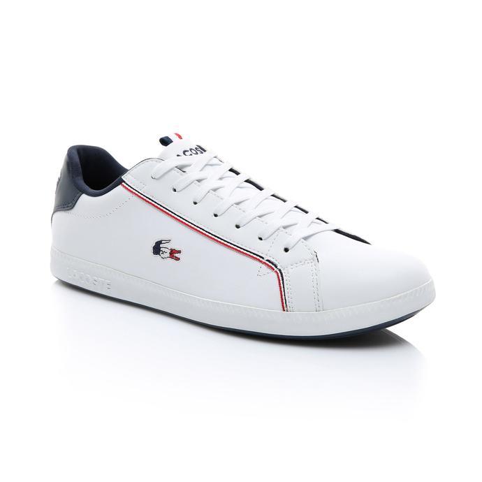 Lacoste Erkek Beyaz - Lacivert - Kırmızı Graduate 119 3 Spor Ayakkabı