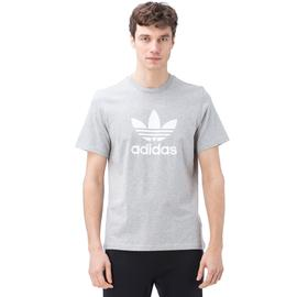 adidas Trefoil Tee Erkek Gri T-Shirt