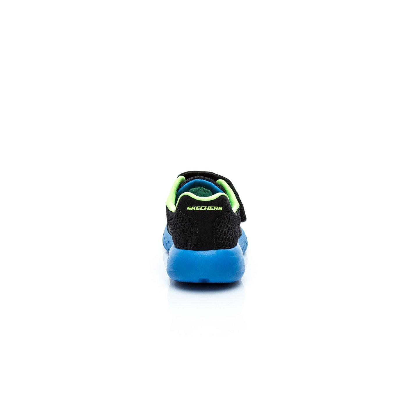 Skechers Go Run 600- Roxlo Erkek Çocuk Siyah-Mavi-Açık Yeşil Spor Ayakkabı