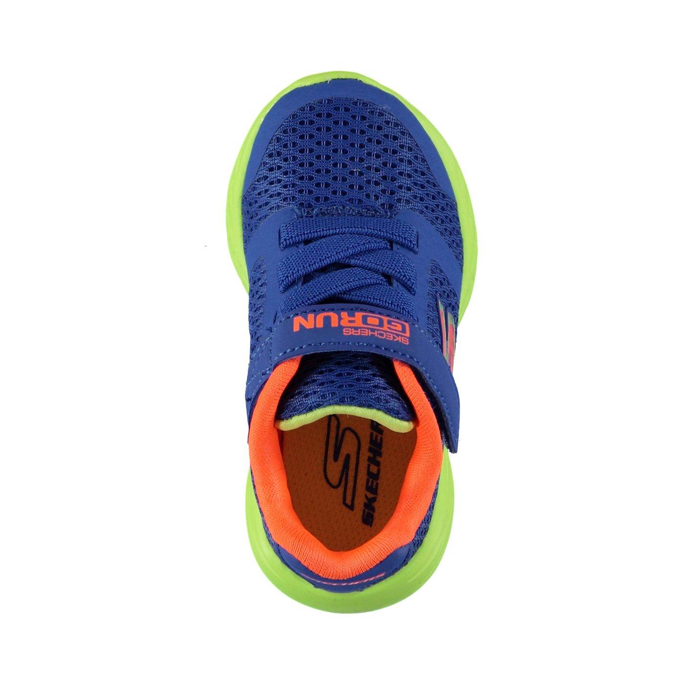 Skechers Go Run 600- Roxlo Erkek Çocuk Mavi-Açık Yeşil Spor Ayakkabı