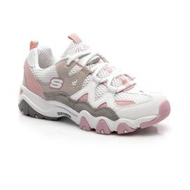 Skechers D'Lites 2- Top Down Kadın Beyaz-Gri-Pembe Spor Ayakkabı