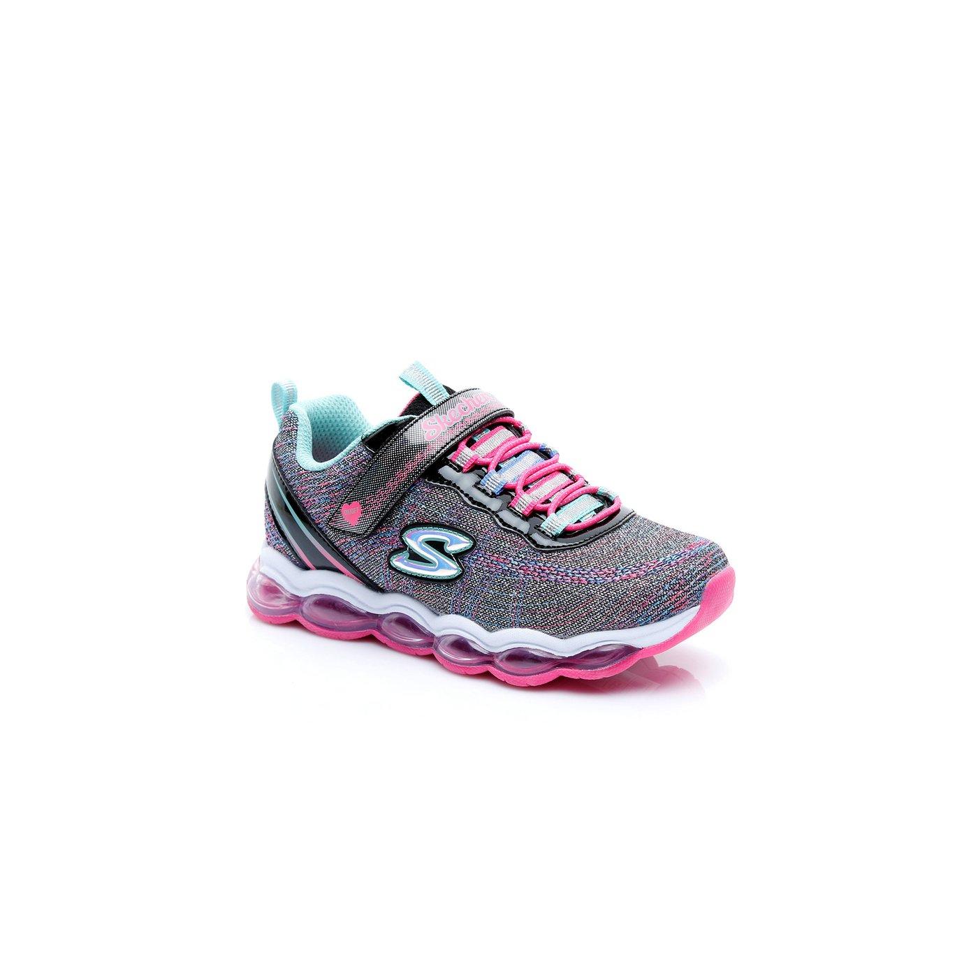 Skechers Air Lites Kız Çocuk Gri - Pembe Spor Ayakkabı