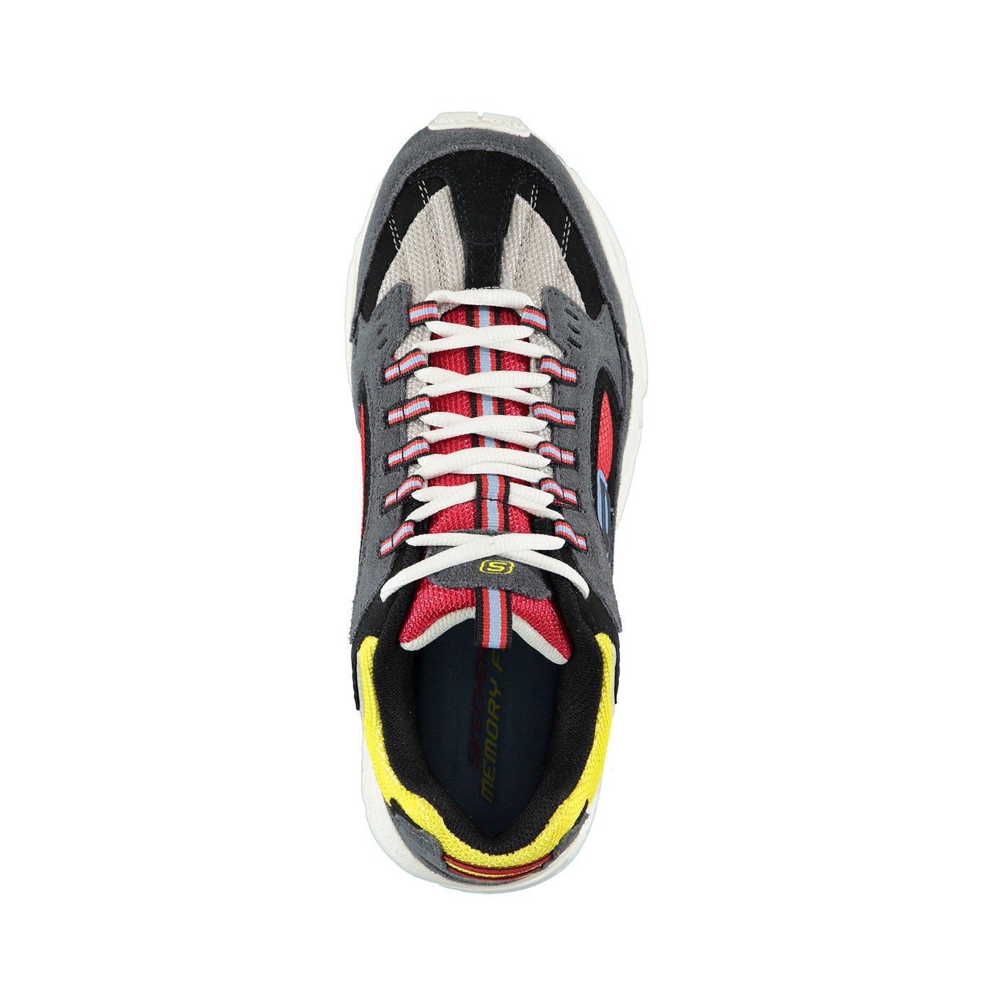 Skechers Stamina- Cutback Erkek Gri-Kırmızı Spor Ayakkabı