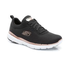 Skechers Flex Appeal 3.0 Kadın Siyah-Pembe-Altın Spor Ayakkabı