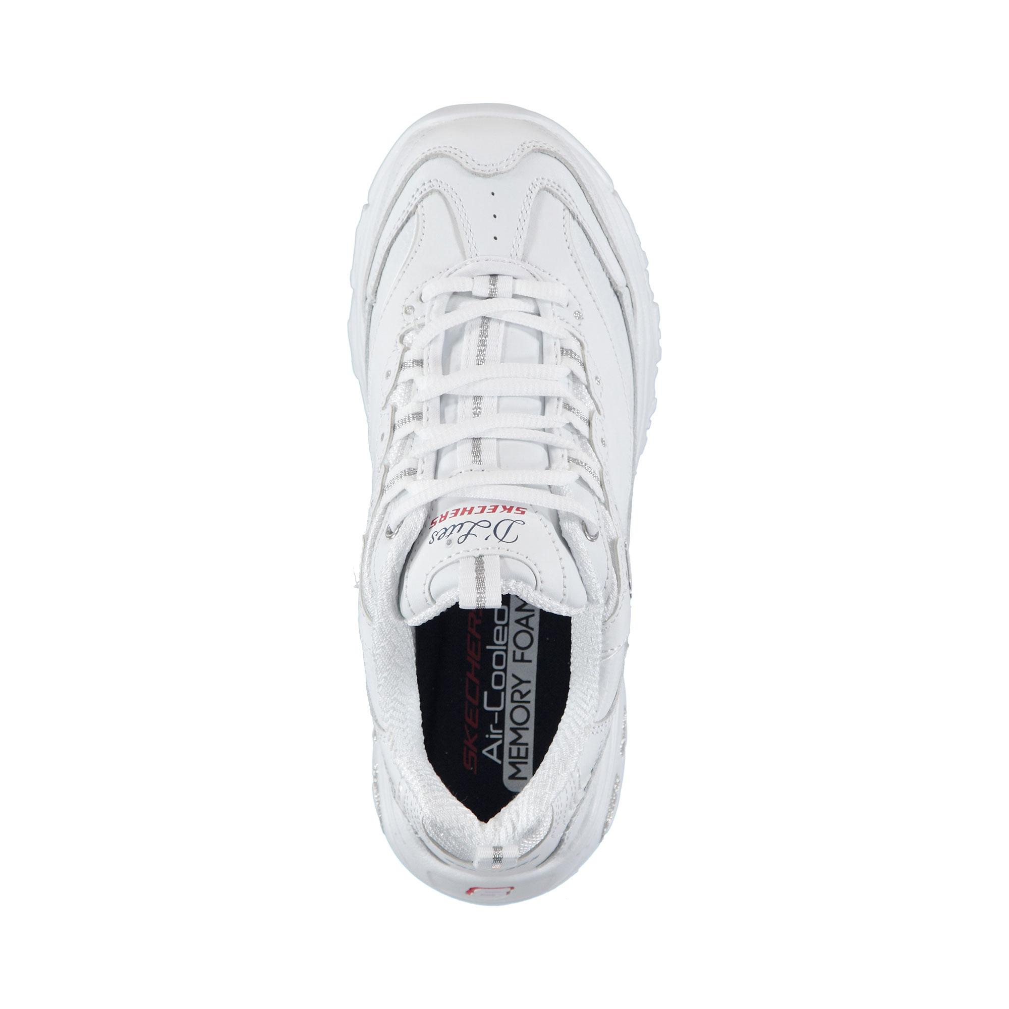 Skechers D'Lites - Fresh Start Kadın Beyaz-Lacivert-Kırmızı Spor Ayakkabı