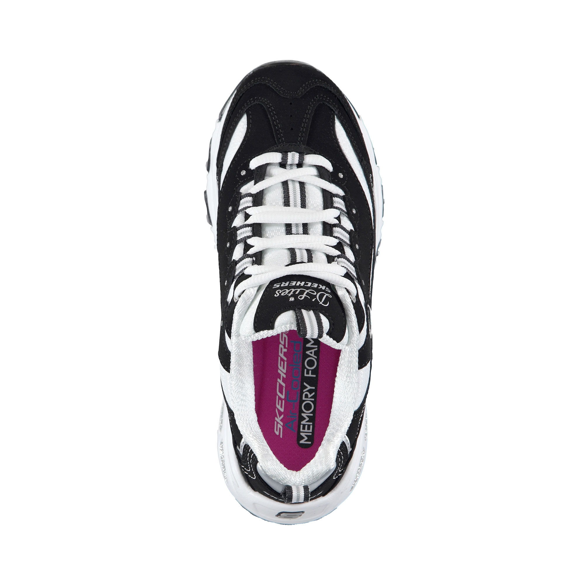 Skechers D'Lites Biggest Fan Kadın Siyah Beyaz Spor Ayakkabı