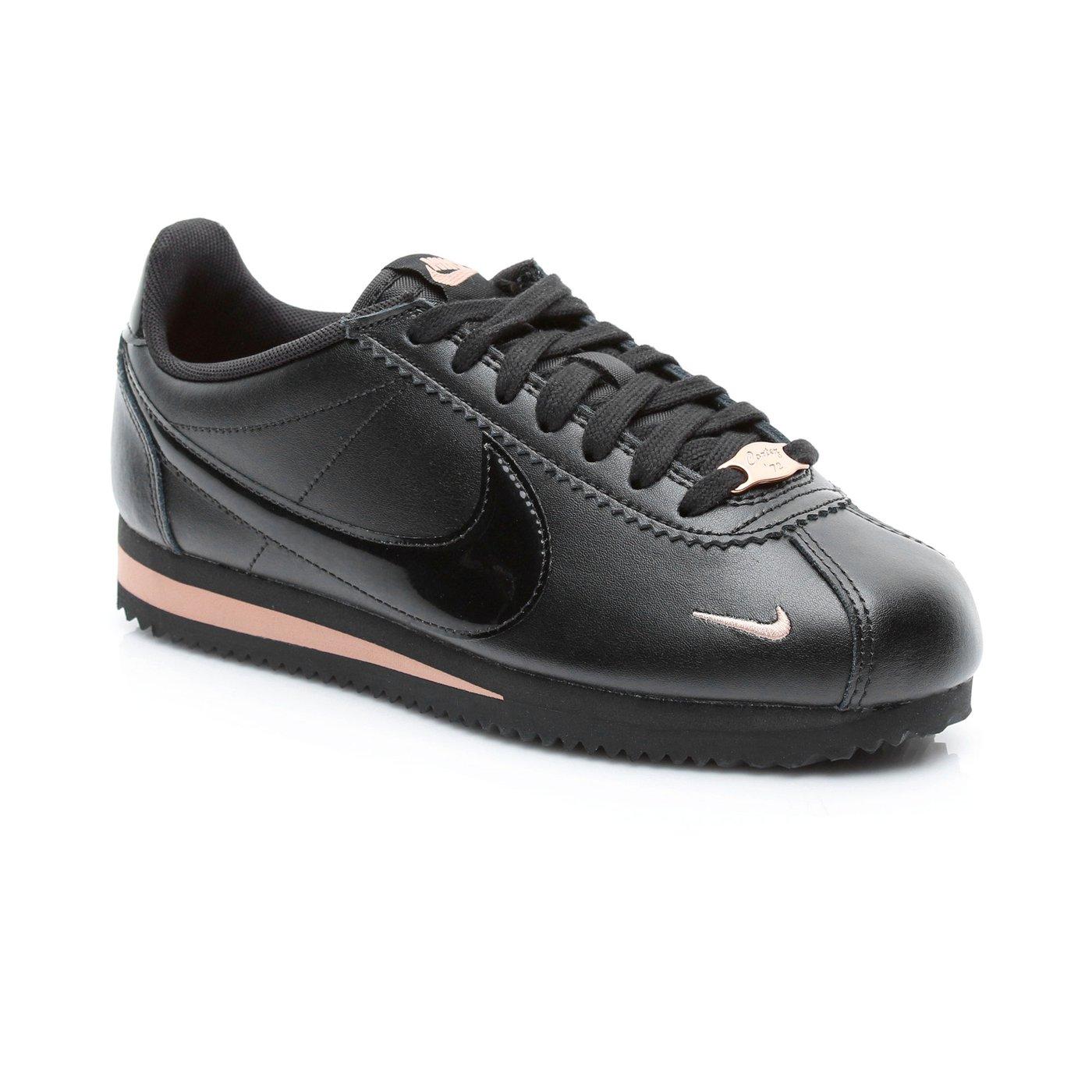 Nike Classic Cortez Prem Kadın Siyah Spor Ayakkabı